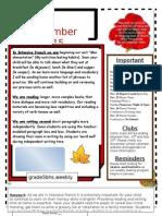november class newsletter