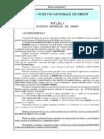 1 Curs 1 - Notiuni Generale de Drept