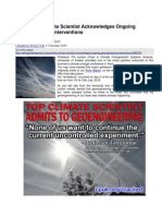 Top British Climate Scientist Acknowledges Ongoing Geoengineering Interventions