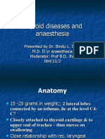 Thyroid Diseases and Anaesthesia