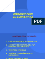 Introduccion a La Didactica