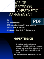 A Case of Hypertesion and Anesthetic Management