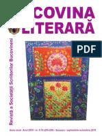 BUCOVINA LITERARA 9-10, 2015