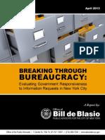 De Blasio 2013 FOIL Report