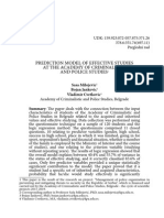Prediction Model of Effective Studies at the Academy of Criminalistic and Police Studies