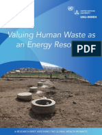 Valuing Human Waste an as Energy Resource
