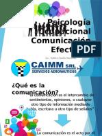 Psicología Ocupacional Comunicación Efectiva