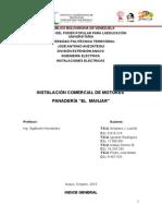 Proyecto Instalacion Comercial de Motores Panaderia El Manjar
