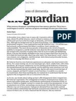 The deviousness of dementia | Dasha Kiper | Society | The Guardian