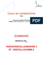 Cours de Cristallochimie 2015 INTRODUCTION