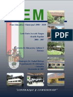 Plan Educativo Municipal Ciudad Bolivar