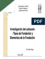 1.-Investigación Del Subsuelo Tipos Elementos Unv Los Andes