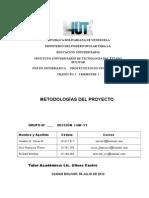 Metodologia y Fases Del Proyecto Estado Merida