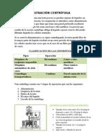 filtracion centrifuga