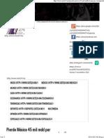 30-10-15 Pierde México 45 Mil Mdd Por Corrupción - Siete24