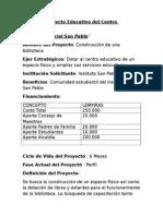Perfil de Proyecto Educativo Del Centro Educativo