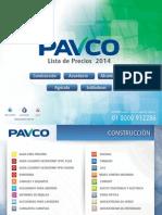 Precios Pavco 2014