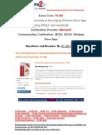 [FREE]Braindump2go Latest 70-481 VCE Guarantee 100% Pass 31-40