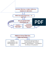 Psicologia Social - Objeto e História - FLUXOGRAMA