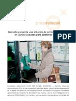 Gemalto presenta una solución de emisión de boletos en varias ciudades para teléfonos móviles