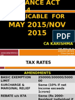 Amendments Direct Tax Nov 2015