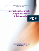 Journal of Computer Science IJCSIS October 2015