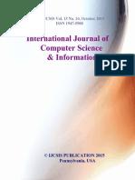Journal of Computer Science IJCSIS October 2015