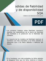 Medidas de Fiabilidad y de Disponibilidad SQA