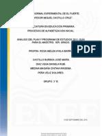 Análisis Del Programa de Estudio 2011. Tc.
