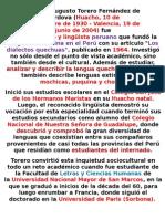 Alfredo Augusto Torero Fernández de Córdova
