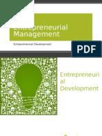 Entrepreneurial Management