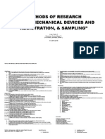 Tests Mechanical Devices and Registration Sampling