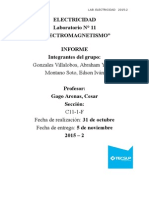 "laboratorio 11 de ""ELECTROMAGNETISMO"""
