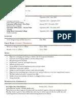 resume ecasd portfoliostudentteaching