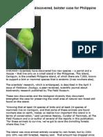 New Bird Species Discovered in Babuyan Islands