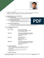 FEU-IT :Sample Student Résumé Modified
