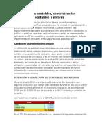 Caso Practico NIC 8 Políticas Contables Cambios en Las Estimaciones Contables y Errores