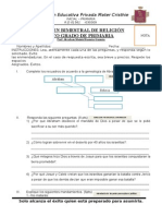 Examen 2 Bimestral Religión Primaria
