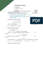 Past Year Functions STPM Math M