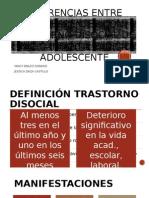Diferencias Entre Adolescentes Con Trastorno Disocial de Inicio