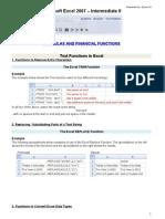 Microsoft Excel 2007-Intermediate II