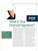 What is Your Financial Signature