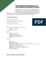 Problema de Programacion Dinamica Con Stocks y Límites Superior e Inferior de Carga