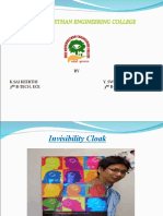 ARTIFICIAL CLOAK PPT