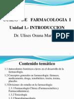 Unidad 1.- Introduccion (Farmacología I)