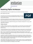 The Varsitarian - Redefining Filipino Architecture - 2009-05-10.pdf