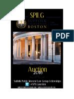2016 Suffolk Public Interest Law Group (SPILG) Auction Catalog