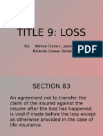 Title 9 Loss (Insurance Law)