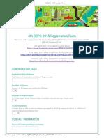 4th BBPC 2015 Registration Form