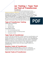 Trafo Tests